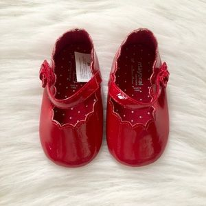 Baby girl red Mary Jane shoes